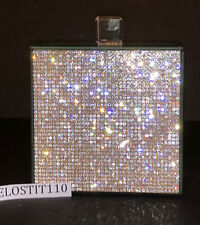 Bella Lux RHINESTONE & MIRRORED CANISTER WITH MIRRORED LID. BEAUTIFUL.  LUXURY