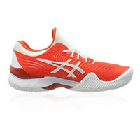 Asics Mens Court FF Novak Clay Tennis Shoes Red Sports Breathable Lightweight