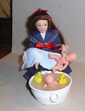 """""""Puppenbadetag"""" aufwendiges Set für die Puppenstube  -Miniatur 1:12"""