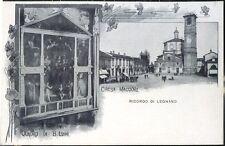 1900 - Legnano - Chiesa Maggiore e quadro di B. Luini