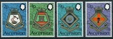 ASCENSION ISLAND, SC 166-169, Naval Arms issue of 1973. MNH. CV $14