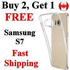 Samsung S7 Transparent clear Case Cover Thin Flexible