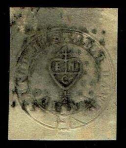 1852 Used India #A1 Scinde Dist. Post - Sismondo Cert - CV$2,600.00 (ESP#3815)