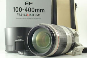 [MINT in BOX] Canon EF 100-400mm f/4.5-5.6L IS II USM Lens w/ Hood From JAPAN
