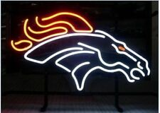 "New Denver Broncos NFL Beer Bar Neon Light Sign 19""x15"" Fast Ship"