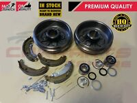FOR PEUGEOT 206 1.1 1.4 REAR BRAKE DRUMS SHOES FITTING KIT WHEEL BEARINGS NO ABS