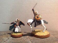 Señor De Los Anillos Erkenbrand pie y montado 2 finecast figuras warhammer