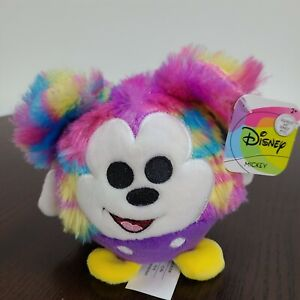 """Disney Mickey Mouse Plush 4.5"""" Tie Dye Squeeze Ball Stuffed Animal Multicolor"""