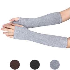 Men Women Unisex Knitted Fingerless Gloves Soft Warm Long Mitten warm Winter HOT