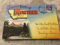 Vintage Postcard Folder Posted 1947 Montana MT