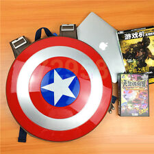 Captain America's Shield Backpack Schoolbag laptop bag knapsack packsack Round
