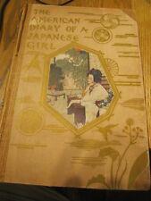 X-RARE THE AMERICAN DIARY OF A JAPANESE GIRL YONE NOGUCHI 1902 G.YETO PLATES