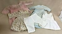 "Vintage/Antique Doll Clothing, 3 Dresses, Slip & Bloomers For 15-17"" Dolls/Bears"