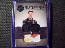 DENNY HAMLIN RACE USED FIRESUIT / SHEET METAL AUTHENTIC PRESS PASS 65/75  CARD