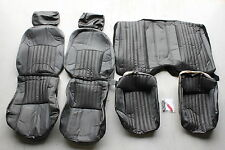 Firebird/Trans Am Ebony Black Leatherette Seat Covers NEW