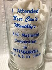 Rogalski Brothers Beer Can Monthly Convention July 1982 Glass Mug Libbey