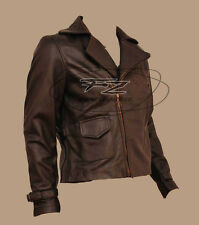 First Avenger Captain America Vintage Biker Real Leather Jacket Chris Evans