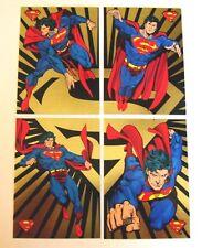1993 SUPERMAN GOLD FOIL Chase set (4) - The Return of Superman