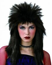 Womens Spikey Rock Chick 80s 1980s Party WIG (Fancy Dress Costume) 8196