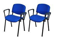 2er Besucherstühle blau/schwarz inkl. Armlehnen Konferenzstuhl Bürostühle Stuhl