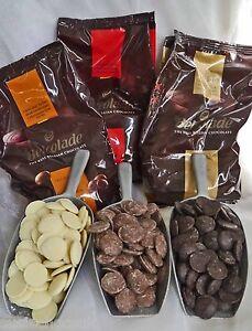 Belgian chocolate couverture,white, milk, dark 55%,70%,80%, 96%