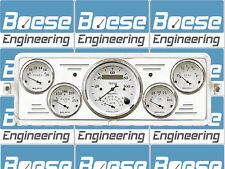 1939 Chevy Car Billet Aluminum Dash Insert Gauge Panel Instrument Cluster (Tach)