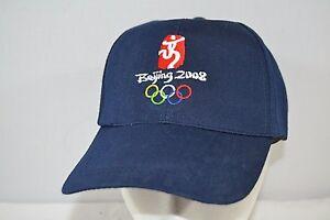 Beijing 2008 Olympics Blue Baseball Cap Adjustable Strap