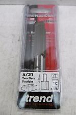 """TREND PROFESSIONAL 4/21 TCT 15.9MM 5/8"""" STRAIGHT ROUTER CUTTER BIT 1/2"""" SHANK"""