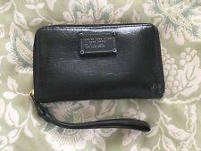 Marc By Marc Jacobs Classic Q Black Leather Wingman Phone Wristlet Wallet