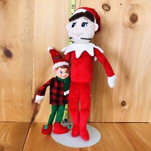 "Elf Christmas 2018 9"" Rubber & Cloth wire arms & legs & 15"" Elf Plush ((3))"