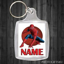 Personalised SPIDERMAN Keyring / Bag Tag With Your Name - LARGE 35x45mm