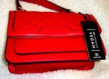 LA TERRE FASHION red vegan shoulder bag small