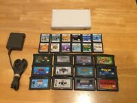 White Nintendo DS Lite W/ 12 DS + 12 GBA Games Tested Free US Shipping! Gameboy