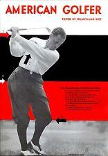 neat Bobby Jones 1932 American Golfer magazine cover REPRO five fundamentals