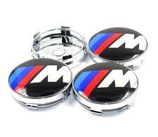 BMW Msport M Power Hub Alloy Wheel Centre Caps.Set of 4. E60 E61 E34 E90 60mm