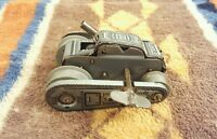 Vintage Tin Lithograph Wind Up Toy Tank marked Shackman NY with Key Rare 1950s