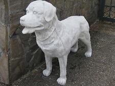 Rottweiler Steinfigur Tierfigur Figur Hund massiv 85 kg frostbeständig neu