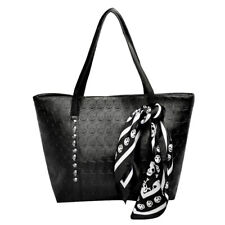 New Fashion Women PU Leather Handbag Ladies Skull Printed Shoulder Bag