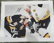 Cam Neely Boston Bruins signed 20x24 CANVAS Ulf Samuelsson Fight
