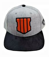 OFFICIAL CALL of DUTY BLACK OPS 4 VINYL SHIELD SNAPBACK HAT- HEATHERED GRAY -NEW