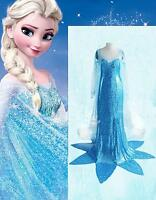Adult Ladies Women Frozen Princess Elsa Fancy Dress Costume 4 6 8 10 12 14 16
