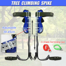 2 Gears Stainless Steel Tree Climbing Spike Set Lanyard Rope Pedal