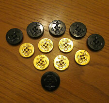 Vintage Buttons Naval Mixed Lot NAVY  Rope Anchor Military 12 pcs