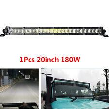 Slim 20inch 180W 4D LED Light Bar Work Spot Flood Beam Off Road 4X4 4WD Trucks