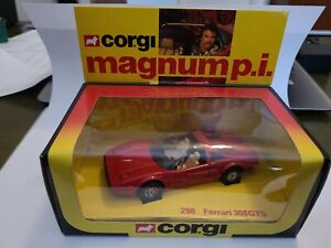 Corgi 298 Magnum P.I. Ferrari 308 GTS Complete with box and header card RARE 🚘