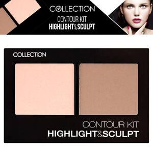 Collection Cosmetics Shimmer Face Contour Kit Matte Powder Highlight & Sculpt