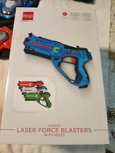 BCP 4 PC Kids Toys Guns Vests Players Infrared Laser Tag Target Shooting Game