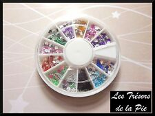 STRASS CRISTAL 3D ONGLES - Nail art - FLEURS - 3mm - Multicolore