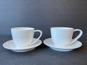BODUM White Espresso Demitasse Cup & Saucer, Set of 2