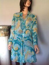 Silk Tunic Ios Paisley Turqouise Women M Designer Fashion Summer Stylish Chic